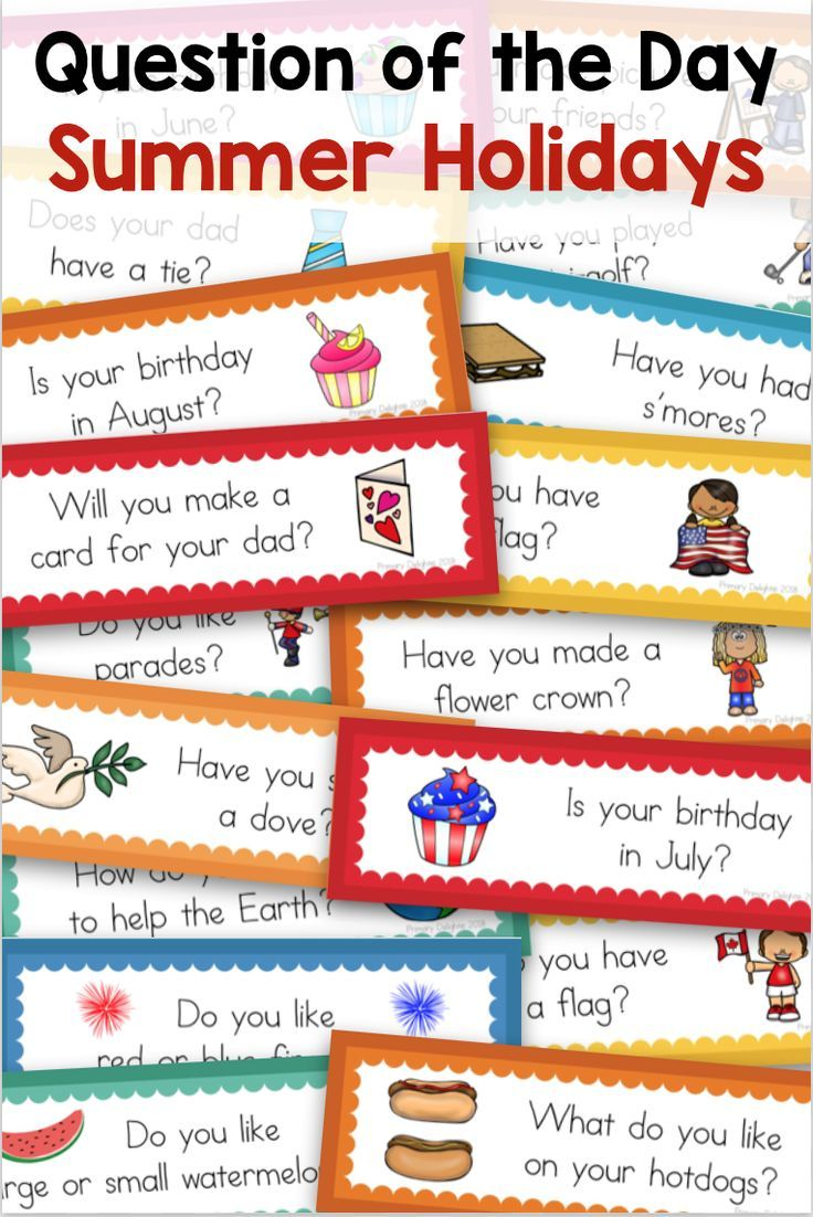 Use These Summer Holidays Questions Of The Day With Your Preschool Kindergarten Or First Grader Question Of The Day This Or That Questions Teaching Elementary