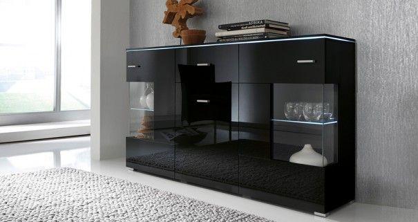 Komoda czarna #nowoczesnemeble #mebledosalonu #meble #minimalistycznemeble #mebleniemieckie #dom #aranzacjedom #aranzacje