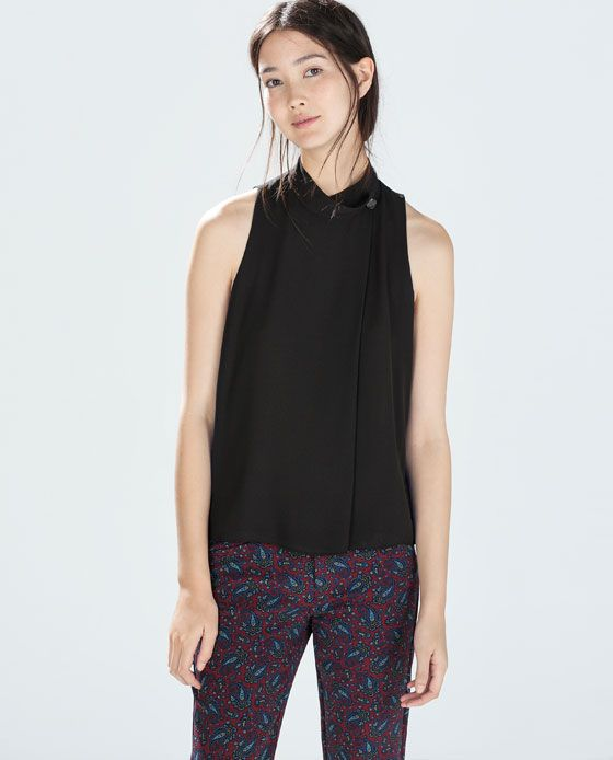 Ultima collezione camicie da donna nel catalogo ZARA TRF online. Trovate top, croptop e camicie in jeans, in seta, da sera, manica corta, a righe e in pizzo | ZARA Italia