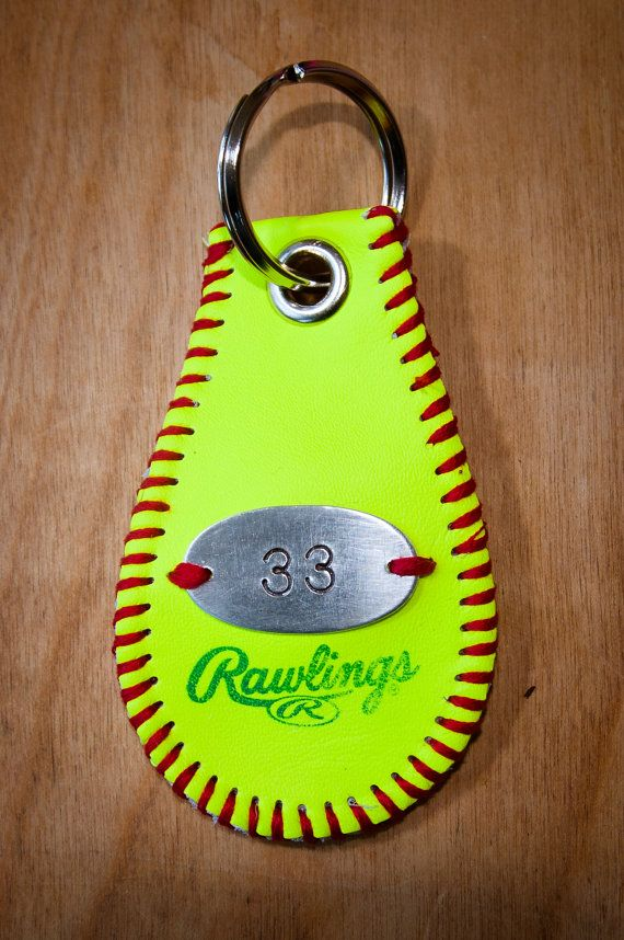 Hey, I found this really awesome Etsy listing at http://www.etsy.com/listing/130361747/softball-key-chain