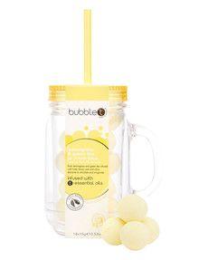 Bubble T Mason Jar Bath Fizzers, Lemongrass & Green Tea product photo