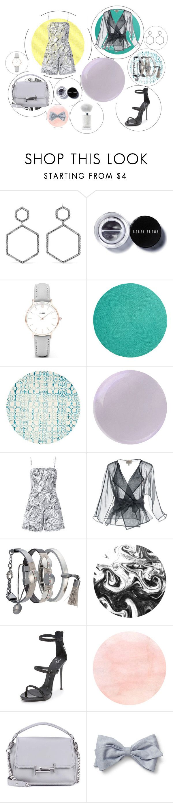 """""""In Circles"""" by tilarids ❤ liked on Polyvore featuring Isabel Marant, Bobbi Brown Cosmetics, CLUSE, Deborah Rhodes, Safavieh, Isolda, Armani Collezioni, Camila Klein, Giuseppe Zanotti and Tod's"""