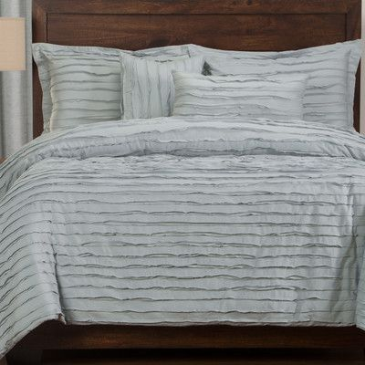 siscovers tattered 6 piece duvet cover set color blue size queen