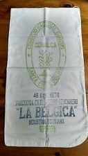 """Vintage Cotton Flour Sack From Bolivia. 17""""x35"""". Great framed as wall hanging.."""