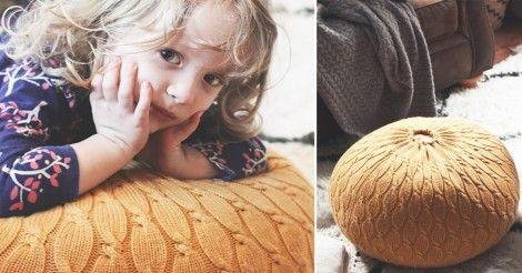 Cómo+convertir+un+suéter+viejo+en+un+cómodo+puff+para+tu+hogar