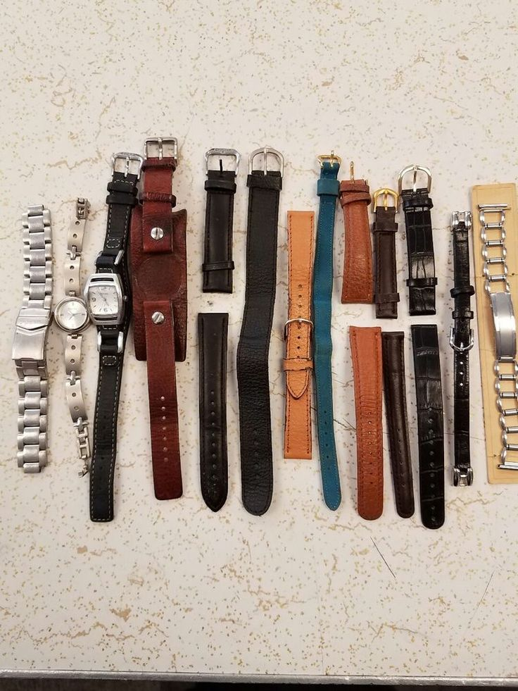 LOT OF 13 FOSSIL & other brands wrist watches & bands  | eBay