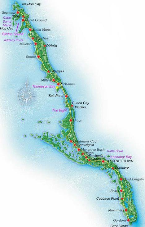 map of long island bahamas Bahamas.com/islands/longisland