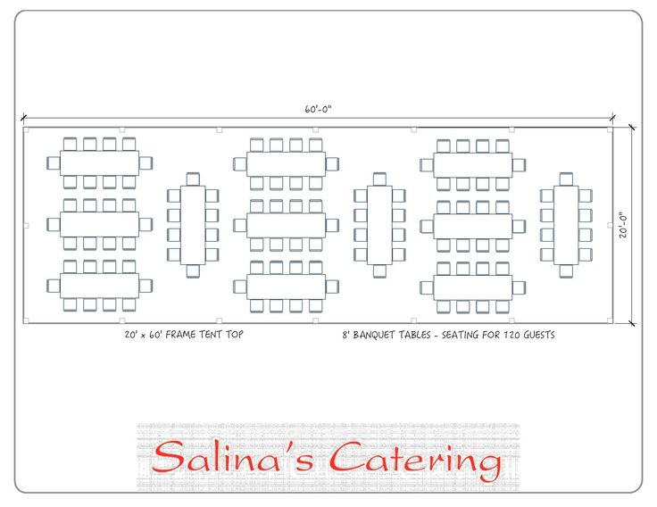 Here is a typical layout for a tent. With this layout you will ideally be able to seat 120 guests at twelve of our 8 foot long banquet tables.  sc 1 st  Pinterest & 32 best Tent Layout Diagrams images on Pinterest | Tent Tents and ...