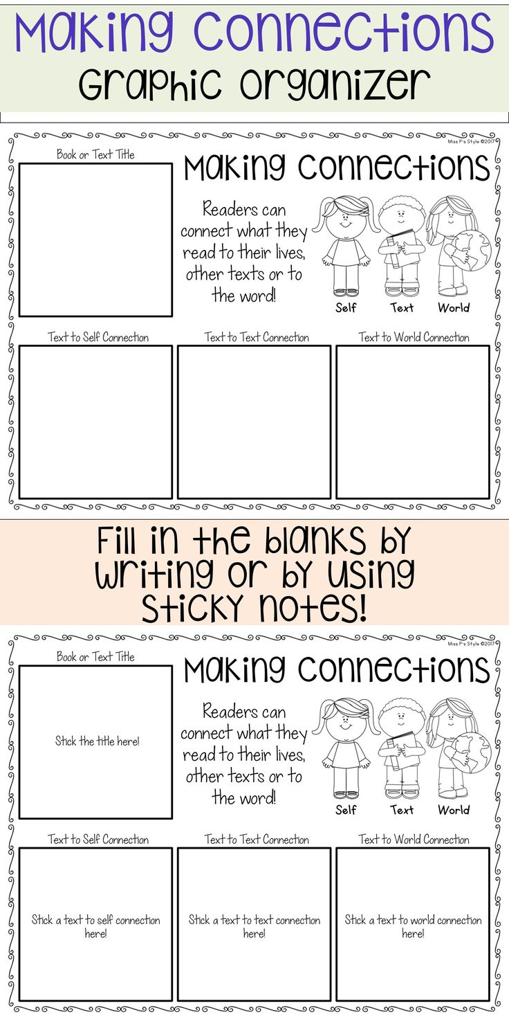 worksheet Making Connections Worksheet 33 best making connections comprehension strategy images on graphic organizer