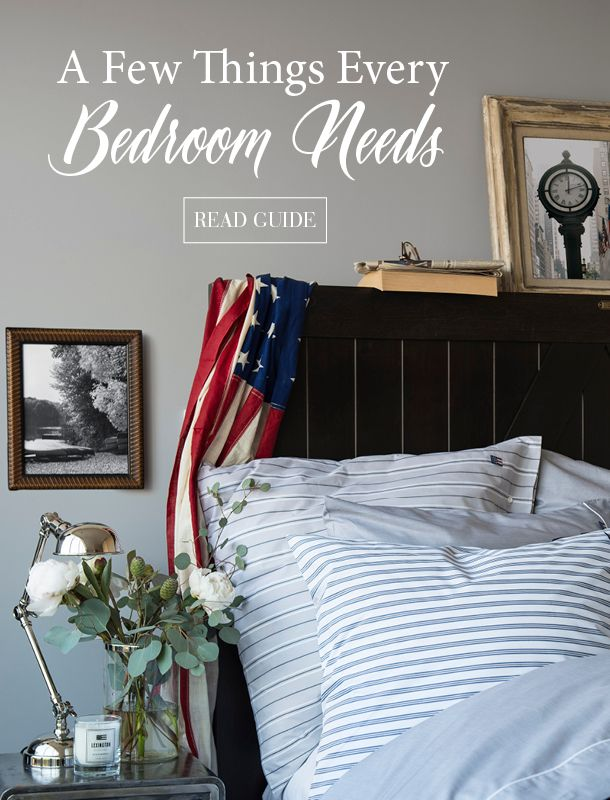 """Don't miss our interior guide """"A Few Things Every Bedrom Needs"""". Did you know you spend a third of your life in bed? Why not turn your bedroom into a place you deserve? It is, after all, where we sleep, dream, read and recharge. The bed itself is of course important, but so are many other things."""