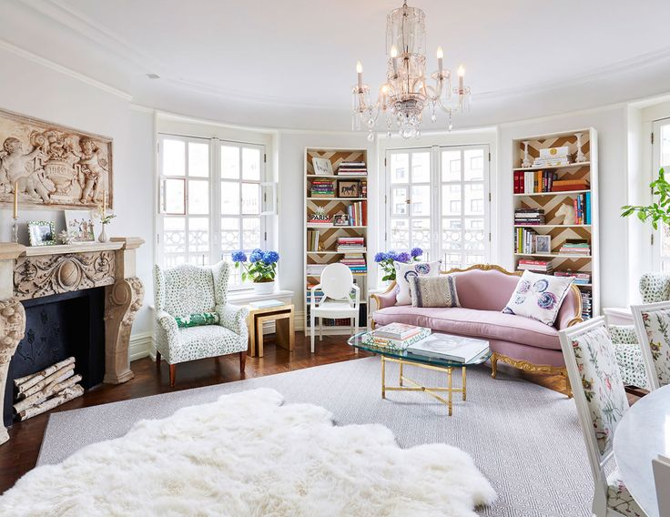 a fresh feminine open living space with european style   via coco kelley. 817 best Home   Living Room images on Pinterest