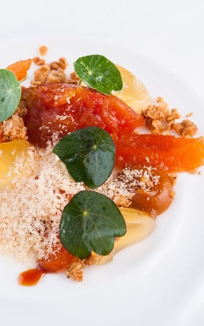 A twist on a classic parfait, Matt Worswick uses shavings of frozen foie gras to make a savoury delight, packed with strong flavours and a range of textures.