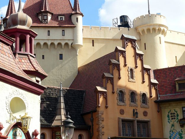 Things You Probably Never Knew About Disney Parks  26. The massive castle structure behind the German pavilion at EPCOT was meant to house a boat ride that simulated a trip down the Rhine River