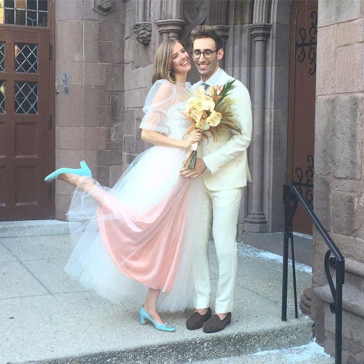 Inside Agyness Deyn's Brooklyn wedding - Molly Goddard pink tulle wedding dress