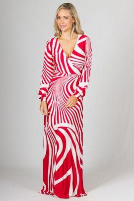 Catalina Maxi Dress - Red Zebra by Paper Scissors Frock