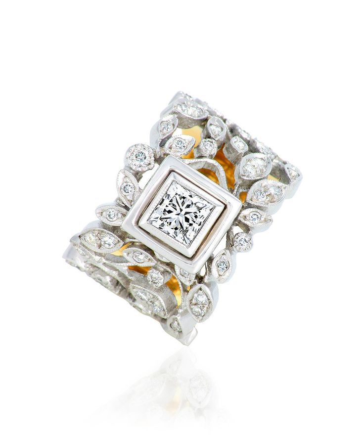 Wonderful wintery whites - Avery Ring in 18ct Gold and Diamonds by Jenna Clifford