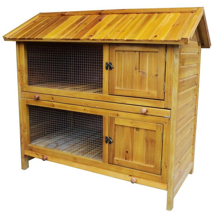 Sportsman Two-Story Premium Pet Hutch-DISCONTINUED-PPHUTCH2 - The Home Depot