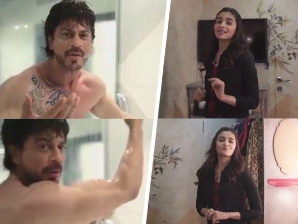 Shah Rukh Khan replies to Alia Bhatt's query while taking a shower