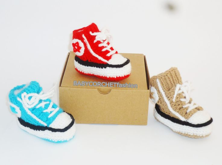 Baby Converse, Crochet Converse Shoes, Crochet All Star , Baby Converse Sale, Converse, Toddler Shoes, Toddler Converse, Baby Gift Shoes by BABYCROCHETfashion on Etsy
