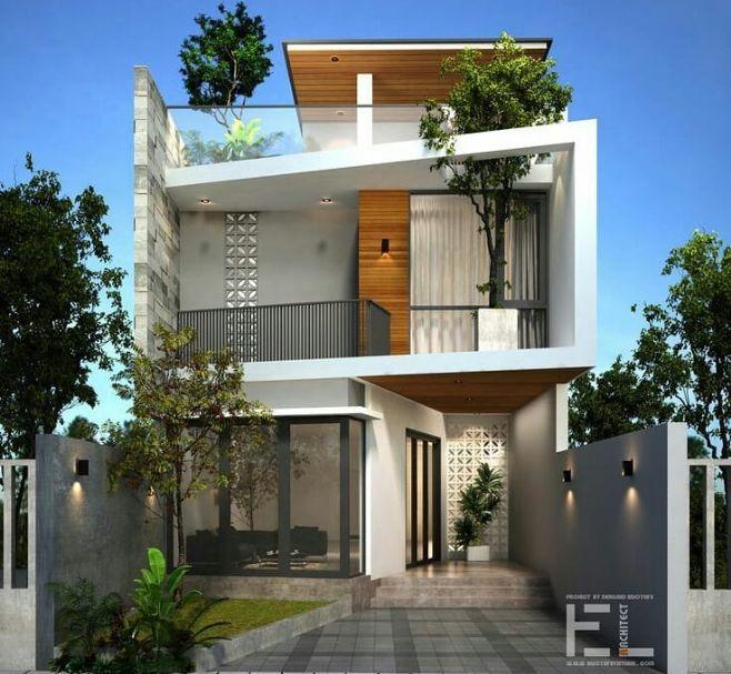 Desain Rumah Cantik Minimalis 2 Lantai di 2020 ...