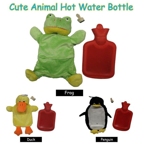 Choose your favourite animal to warm you up with this Animal Kids Hot Water Bottle by Kingdom.