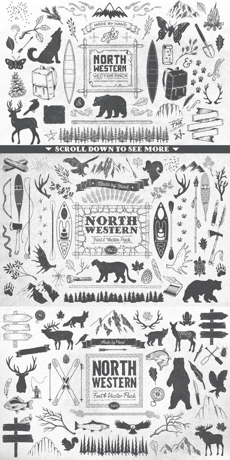 North Western Font + Vectors BUNDLE by GraphicMonkee on Creative Market