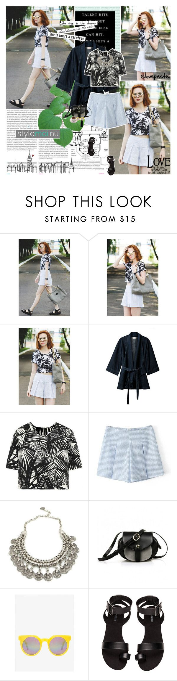 """""""No 204:Street Style (STYLEMOI CELEBRATING 1-ST YEAR ANNIVERSARY SIGN UP) (Stylemoi.nu) (@lovepastel)"""" by lovepastel ❤ liked on Polyvore featuring Oris, EAST, Elizabeth and James, Quay, H&M and stylemoi"""