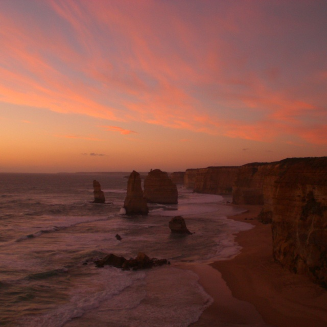 Another must see: sunset on the great ocean road, the 12 apostles