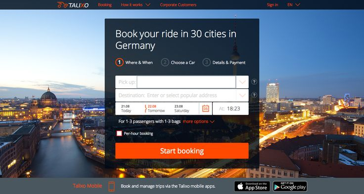 https://talixo.de/en/promo/ With Talixo you can book taxis and limousines in advance in over 550 cities in the world. Book now and receive an immediate 5 EUR discount. Talixo also offers special rates and discounts for corporate travelers. #B2B #ground_transfer  #transfer #taxi  #limousine  #car_service  #black_car  #minicab  #uber  #mytaxi