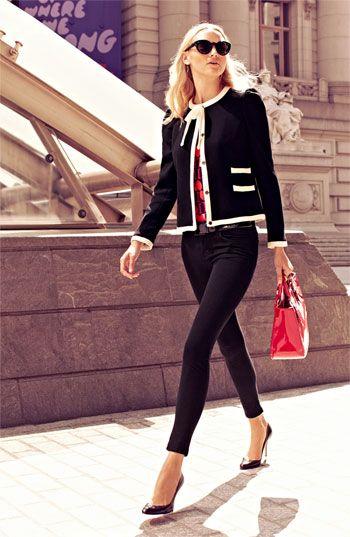 Milly Jacket, Top & Pants #Nordstrom #FallTrend
