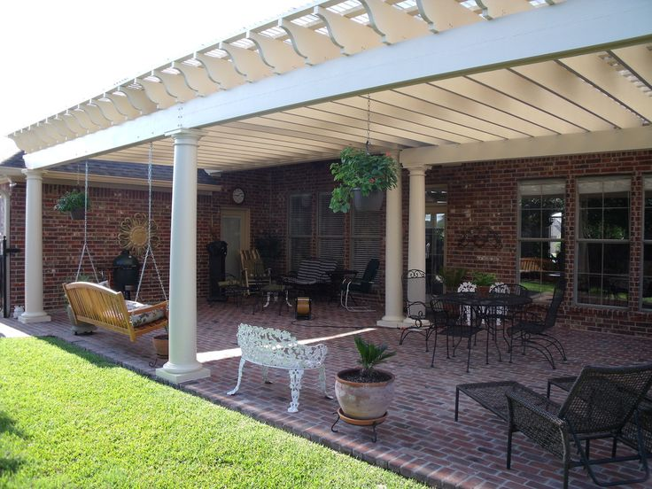 Beautiful White Pergola With Columns And Watertight