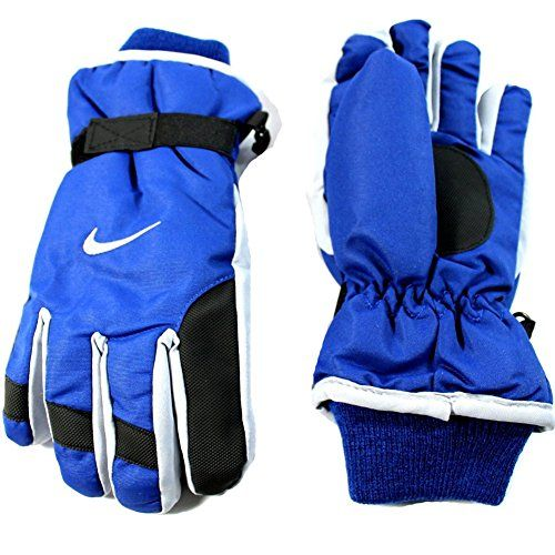 Nike Winter Gloves In South Africa: Nike Unisex Youth's Insulated Strap Blue/Gray Winter