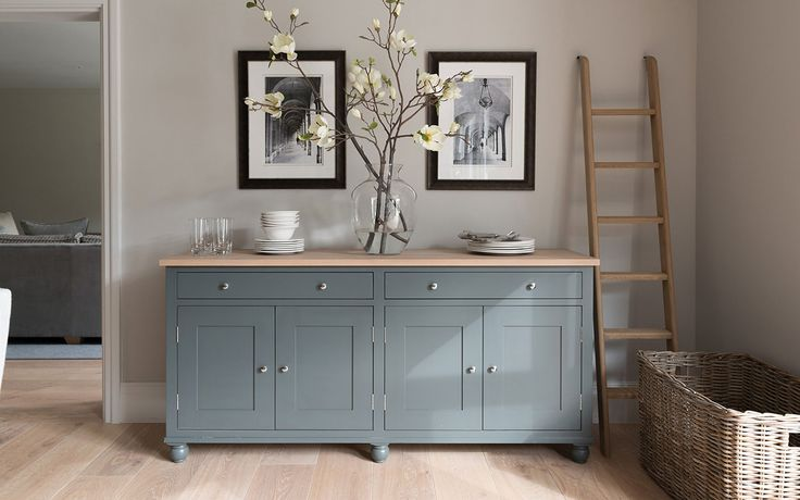 Love the colour of this sideboard - looks similar to Farrow & Ball 'Pigeon'