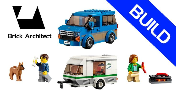 Lego City - Camping - Set 60117 Van & Caravan - Step by Step Build - How...