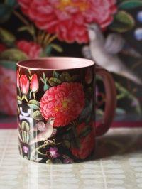 Buy Pink Grey Botanical Mug