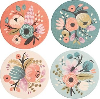 Rifle Floral Coaster Set...belongs in my living room, no joke