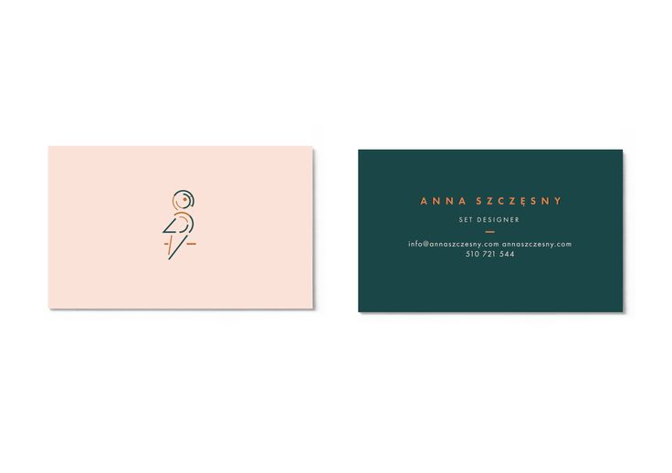 business card designed by Magdalena Lapinska for set designer Anna Szczesny