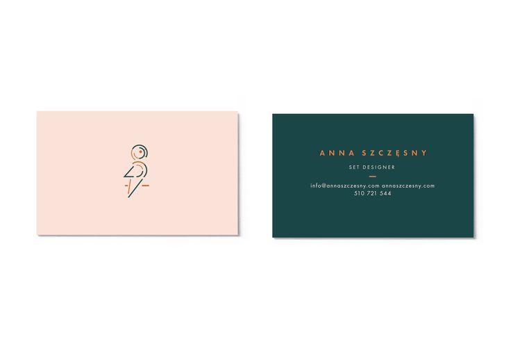 business card designed by Magdalena Lapinska for set designer Anna Szczesny