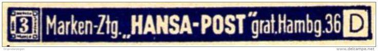 Original-Werbung/ Anzeige 1940 - BRIEFMARKEN ZEITUNG HANSA - POST / HAMBURG - ca. 45 X 5 mm