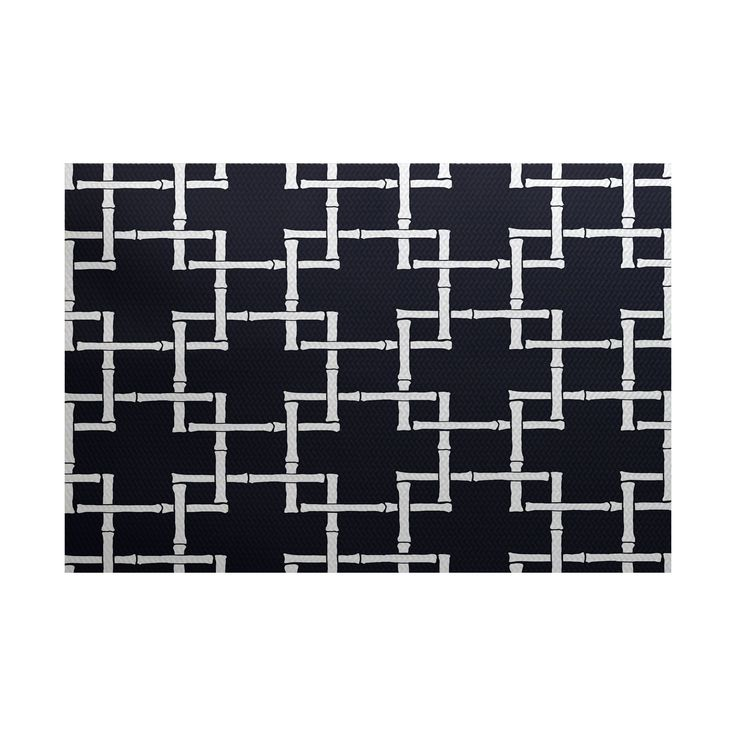 E by Design Bambies 1 Geometric Print Area Rug (2' x 3') (Coral), Orange, Size 2' x 3'