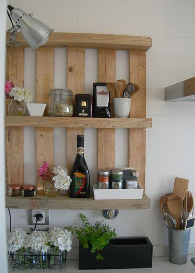 Des palettes en bois dans la cuisine - Marie Claire Maison