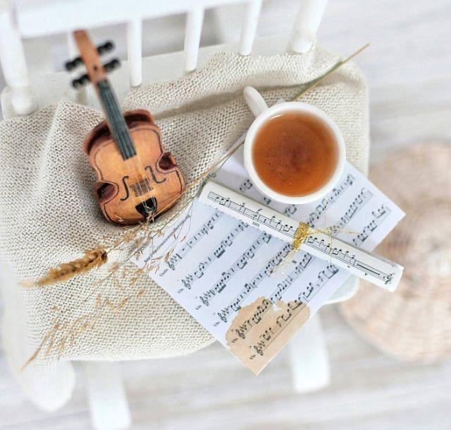 Uladesign Nuty Skrzypce Muzyka Herbata Tea Czas Na Herbate Tea Time Tea Andseasons Jesien Autumn Style Autumn S Dolls Handmade First Communion Gifts Miniatures