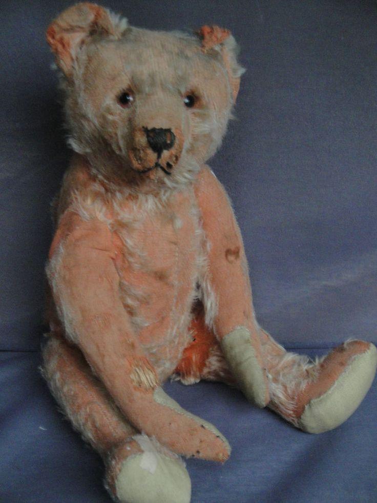 Antique German Bing Teddy Bear 1910s Hunchback Bear Rare