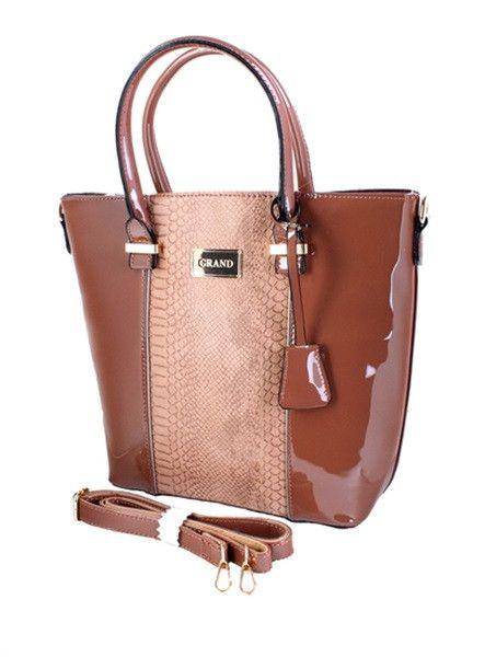 2 Tone Taupe Faux Leather Crocodile Pattern Purse Handbag Adjustable Strap