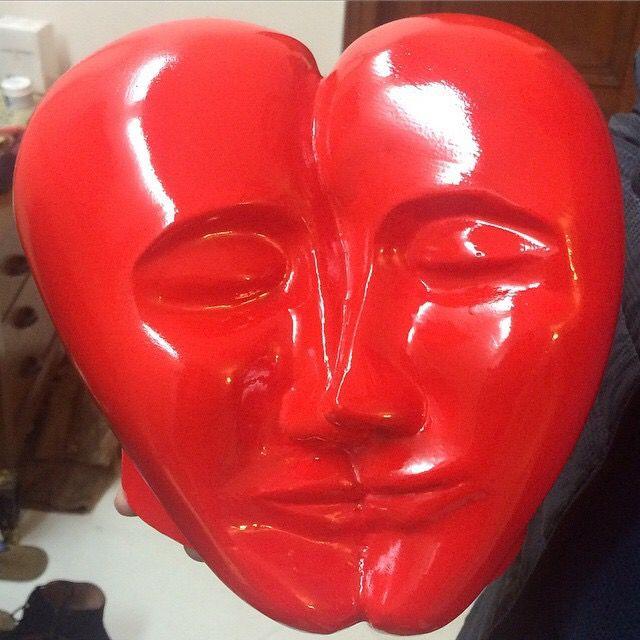 Sculpture art- love heart Artist-Kanika