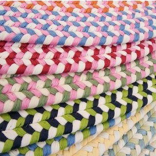 Cake Walk Multicolored Braided Rug (3' x 5' Oval)
