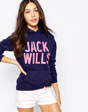 Jack Wills Logo Hoodie