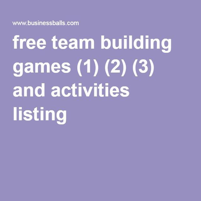 businessballs.com - Free Team Building Games and Activities