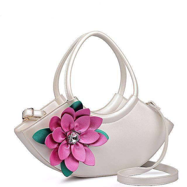FLYING BIRDS Flower Composite Bags Women Tote Designer Bag Leather Han