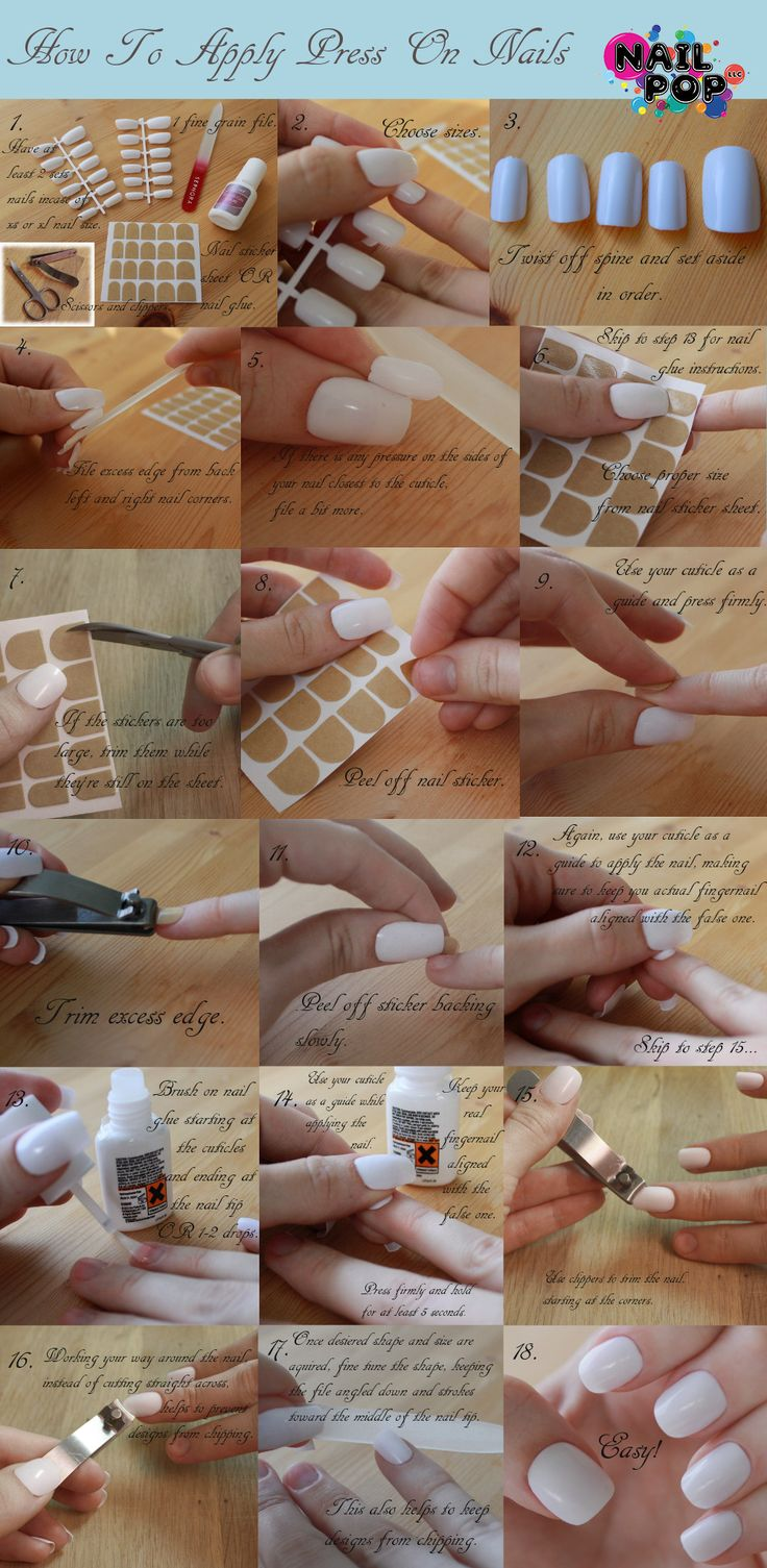 16 best press on nails images on pinterest nail art beauty and how to apply press on nails prinsesfo Image collections